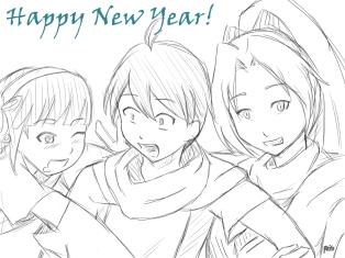 Happy New Year Tsuki Ga Michibiku!
